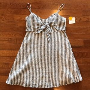 Blue And White Striped Top OR Dress Size Medium
